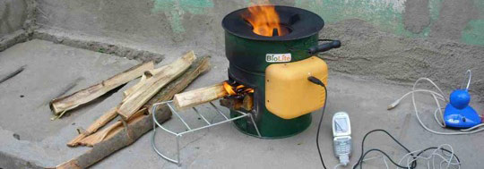 A fuel-efficient, reduced-emission biomass stove for the poor.